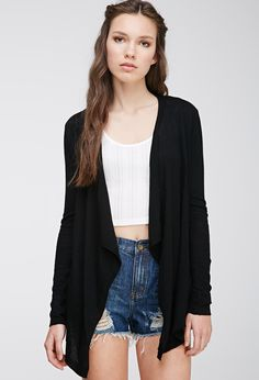 Draped Open-Front Cardigan - 10,50€