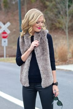 January 2015 - Page 3 of 6 - Life With Emily Fall Winter Outfits, Winter Style, Autumn Winter Fashion, Autumn Fashion, Fur Vests, Denim Coat, Cool Style, My Style, Classy And Fabulous