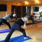 Yoga at Spa Mirbeau.