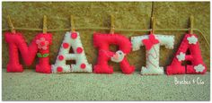 Personalized felt name.Room decoration.Banner name. by brochesycia, €22.50