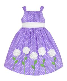 Love this Lilac & White Polka Dot Rosette Dress - Toddler on #zulily! #zulilyfinds