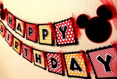 Mickey Mouse Birthday Banner by CelebrationBanner on Etsy