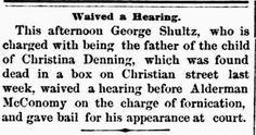 Genealogical Gems: On This Day: Father of dead baby charged