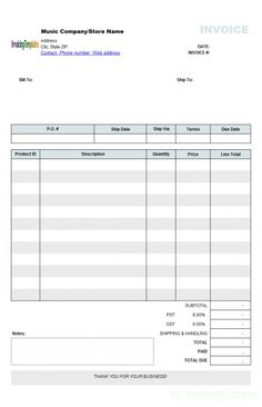 download invoice template for word | invoice template | templates, Invoice examples