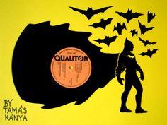 batman silhouette vinyl records art by tamás kánya   Flickr - Photo Sharing!
