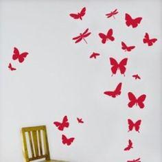 Ferm Living Red Butterfly Nursery Stickers