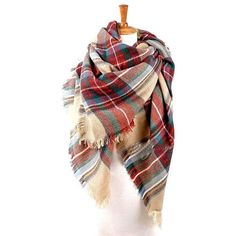 On SALE- 2 more days ONLY Ready to Ship Plaid Blanket Scarf Oversized... ❤ liked on Polyvore featuring accessories, scarves, oversized scarves, oversized blanket scarf, tartan scarves, tartan plaid scarves and plaid shawl