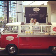 Ice cream kombi van at QT Gold Coast Volkswagen Bus, Vw T, Vw Camper, Party Bus, Coffee Food Truck, Mobile Coffee Shop, Coffee Van, Trailer Tent, Food Vans