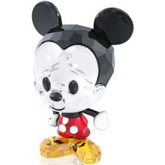 Chipper and cheerful in faceted, beautifully colored Swarovski crystal, this Mickey Mouse figurine is a delight to display and a great way to lend any decor a p...