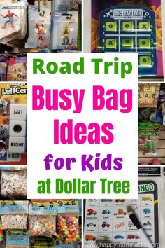 Fun Busy Bag Ideas for Kids at Dollar Tree. Road Trip surprises to keep family travel exciting. No more hearing I am bored with Busy Bags filled with new travel games and activities. Save money stuffing the bags with Dollar Tree items. Make your next family vacation fun for the whole family. Road Trip Activities, Road Trip Games, Indoor Activities For Kids, Wisconsin Vacation, Wisconsin Dells, Travel With Kids, Family Travel, Travel Ideas, Travel Tips