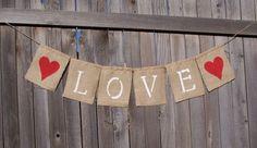 Make your own rustic burlap sack banners | Offbeat Bride