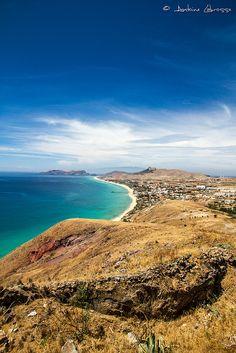 View on the Porto Santo beach,  Madeira Islands, Portugal