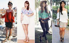Alerta de tendência: inspire-se nos looks com blusa ciganinha - Moda - CAPRICHO