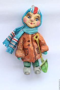Купить Купить ватная Елочная игрушка - комбинированный, ретро стиль, игушка, ватная игрушка