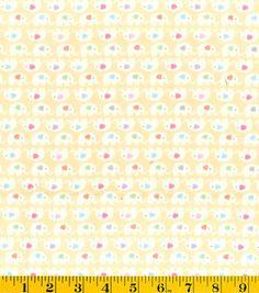 Nursery Fabric Pink Elephant Stripe Flannel