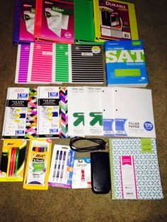 The Life of Ashley: Back To School: Supplies Haul ! - The Life of Ashley: Back To School: Supplies Haul ! The Effective Picture - Back To School Organization Highschool, Back To School Highschool, School Supplies Highschool, School Supplies Organization, School School, School Hacks, Locker Organization, School Routines, School Stuff