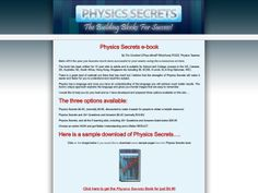 """① """"physics Secrets"""" The Building Blocks For Success! - http://www.vnulab.be/lab-review/%e2%91%a0-physics-secrets-the-building-blocks-for-success"""