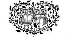 'The Two Owls' paper cut. | Jud Barry
