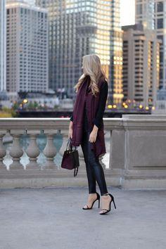 Leather + Burgundy.