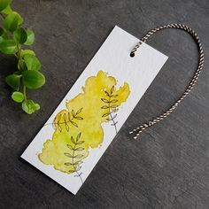 Watercolor Bookmarks, Watercolor Projects, Watercolor Flowers, Watercolor Paintings, Creative Bookmarks, Handmade Bookmarks, Paper Bookmarks, Watercolor Beginner, Bookmark Craft