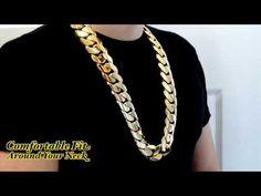 Big Huge Fat Chunky 2 Kilo 30mm Miami Cuban Link Chain HD Hand Made Custom Daniel Jewelry Inc - YouTube