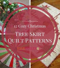12 Cozy Christmas Tree Skirt Quilt Patterns | Celebrate the holidays with one of these festive free tree skirt patterns!
