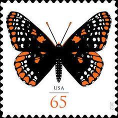 2012 65c Baltimore Checkerspot Butterfly Scott 4603 Mint F/VF NH  www.saratogatrading.com