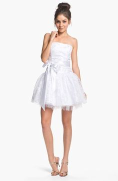 Jessica McClintock Strapless Lace & Tulle Dress available at #Nordstrom
