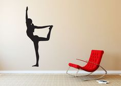 Yoga Pose Silhouette #3 Wall Decal - We offer many sizes and custom sizes are also available on request. This is easy to install and comes with application instructions and an application squeegee. Can be removed without damaging walls. Sticker Hog Vinyl Wall Decals are great for decorating interior walls.