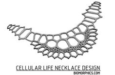 3D printed Cellular Life Necklace design - http://fb.com/Biomorphics.Join the 3D Printing Conversation: http://www.fuelyourproductdesign.com/