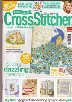 Great projects inside including giraffe and peacock Cross Stitch Boards, Cross Stitch Tree, Beaded Cross Stitch, Crochet Cross, Diy Embroidery, Cross Stitch Embroidery, Magazine Cross, Cross Stitch Magazines, Stitch Book