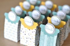 New 2014-2016 In Colors with the Moonlight DSP on display - mini treat bags - Hello Honey and Lost Lagoon highlighted here.