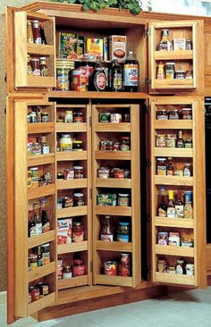 Small Kitchen Pantry Storage Cabinet - No matter whether at office, home or shop we require parts storage cabinets. Kitchen Pantry Storage Cabinet, Kitchen Pantry Design, Pantry Shelving, Kitchen Drawers, Pantry Organization, Kitchen Designs, Cabinet Shelving, Storage Shelves, Kitchen Corner