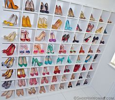 shoe shelves | shoe storage. Congratulation Amber this is the best way to do it. Can't wait to get myself one.