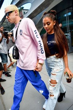 Ariana Grande steps out in Carmar jeans