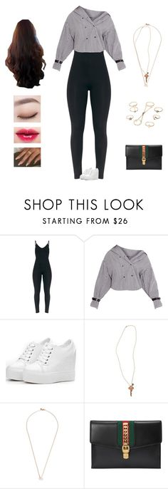 """Fifth Harmony - not that kind of girl"" by kyndraxsvt ❤ liked on Polyvore featuring The Giving Keys, Shaun Leane, Gucci and Charlotte Russe"