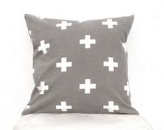 Plus sign pillow Swiss cross pillow Kids Pillows by gridastudio