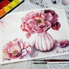Watercolorist: @yulianna_do  #waterblog #акварель #aquarelle #painting #drawing #art #artist #artwork #painting #illustration #watercolor #aquarela