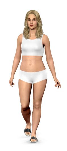 "Virtual Model~ Weight loss Simulator. You put in your personal stats and your goal weight and they show you what it *should* look like... I even increased the ""actual"" weight until I found the size I think I look like. I was really surprised at my distorted self-image!"