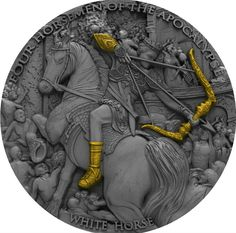 Niue Island 2018 4 Horsemen of the Apocalypse Series White Horse 5$ 2 oz silver