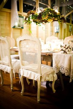 Love these Chairs - so French Provencial!