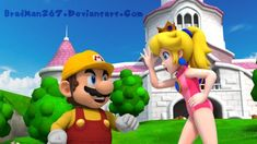 Explore the Princess Peach and Mario collection - the favourite images chosen by ahulke on DeviantArt. Peach Mario, Mario And Princess Peach, Super Mario Bros, Princes Peach, Mario Party, Mario And Luigi, Game Character, Cute Couples, Poses