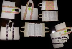 The bible covers I made for my wonderful brother and his wife - Weston and Kayla. I made some of my own changes to it...but the instructions can be found here: http://www.deliacreates.com/2011/02/scripture-cover.html