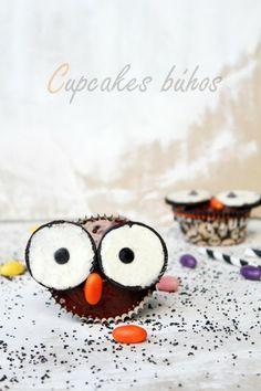 Cupcakes búhos - La cocina de Ompa-Lompa