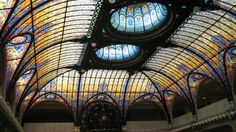 Gran Hotel Ciudad de México, Mexico City /  Tiffany stained-glass ceiling in the lobby, installed in 1908 with 150 lights