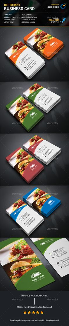 Restaurant Business Card Template PSD. Download here: https://graphicriver.net/item/restaurant-business-card/17476423?ref=ksioks