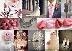 Dark Grey and Pink Wedding Colors