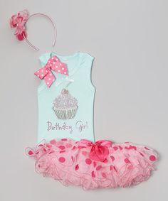 Blue & Pink Cupcake Tutu Set - Infant, Toddler & Girls #zulily #zulilyfinds