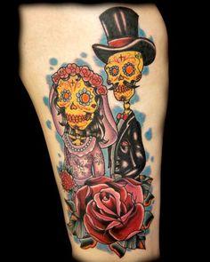Bride And Groom Sugar Skulls
