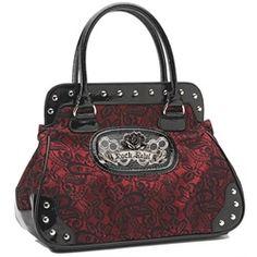 Rock Rebel Brocade Lace Black and Wine Red Vegan Handbag Purse on Chiq  $57.99 http://www.chiq.com/rock-rebel-brocade-lace-black-and-wine-red-vegan-handbag-purse